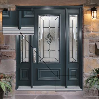 Porte avec 2 panneaux lat raux portatec fabricant de porte d 39 entr e sur mesure - Fabricant de porte d entree ...