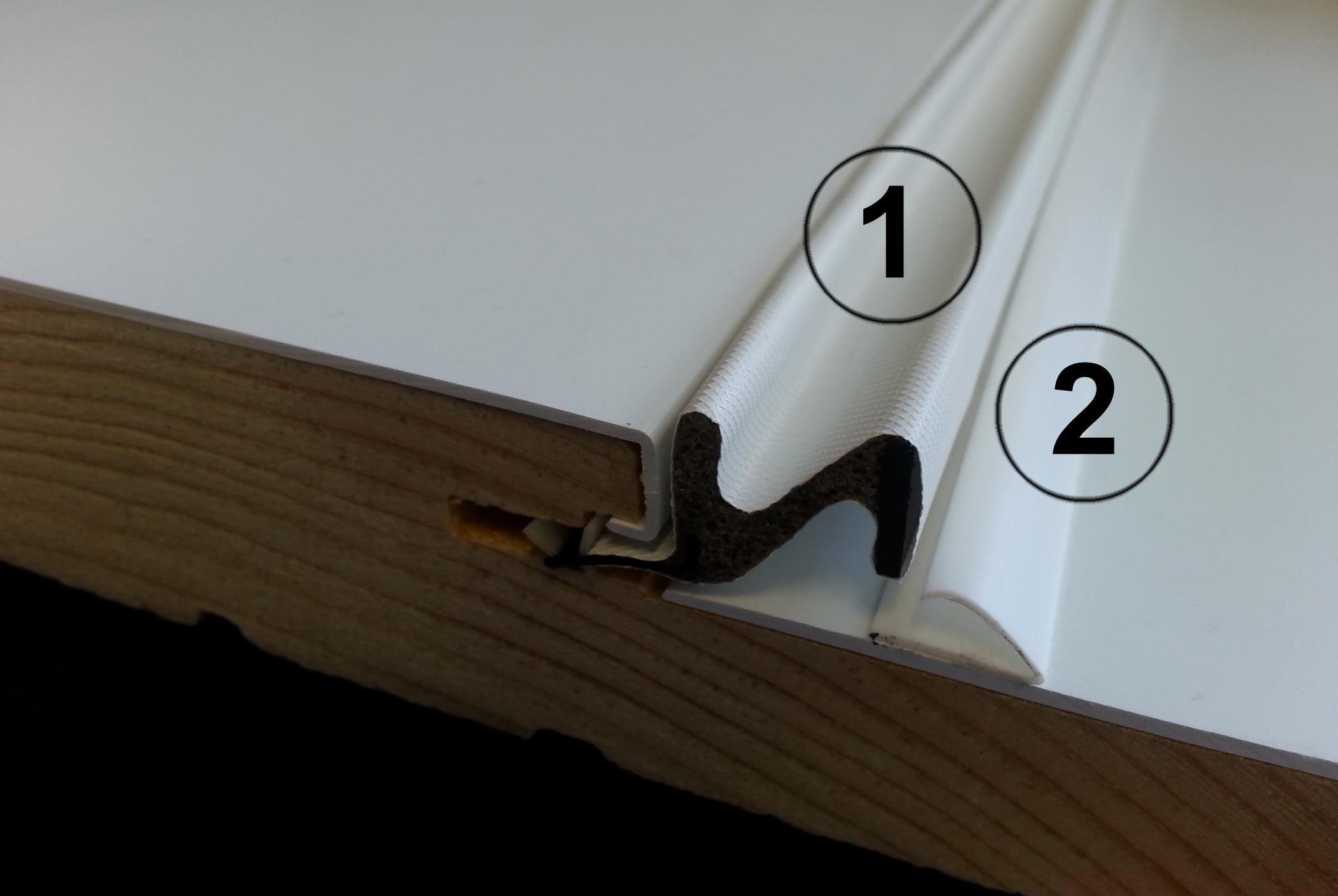 Double coupe froid portatec fabricant de porte d for Tour de porte en bois