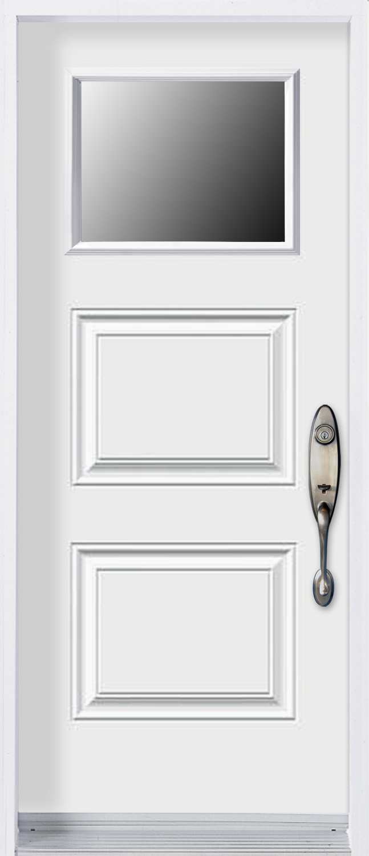 Mod le porte acier avec unit vitr e pa3p v portatec for Largeur porte d entree