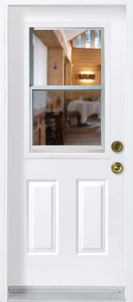 Unit vitr e guillotine portatec fabricant de porte d for Porte avec fenetre guillotine
