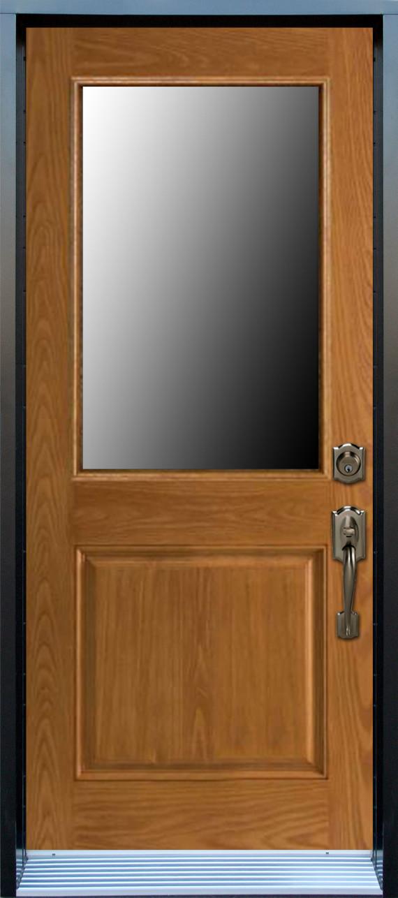 Mod le porte fibre de verre avec unit vitr e pa56 1p - Fenetre fibre de verre ...