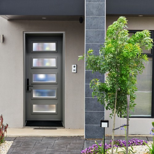 Portes d 39 entr e contemporaines urbania portatec - Couleur de porte interieur ...