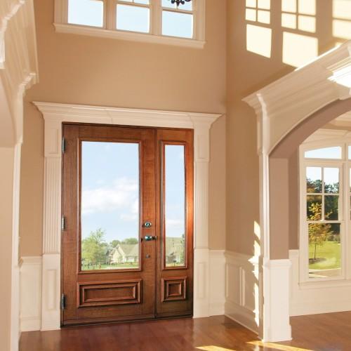 Portes avec rev tement de bois sur mesure portatec for Porte bois exterieur sur mesure