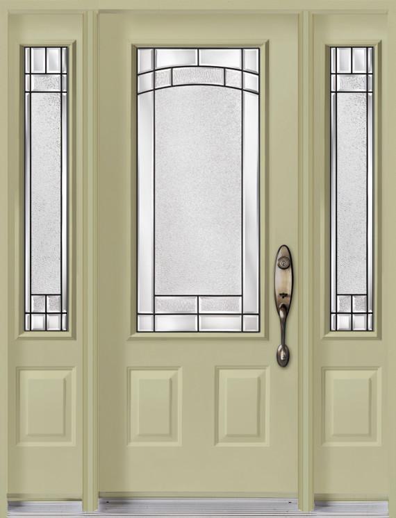 Porte d 39 acier avec 2 lat raux vitraux element portatec fabricant de porte d 39 entr e sur mesure - Porte d entree avec vitrail ...