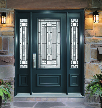 Portes d 39 entr e classique avec unit vitr e portatec for Porte exterieure vitree