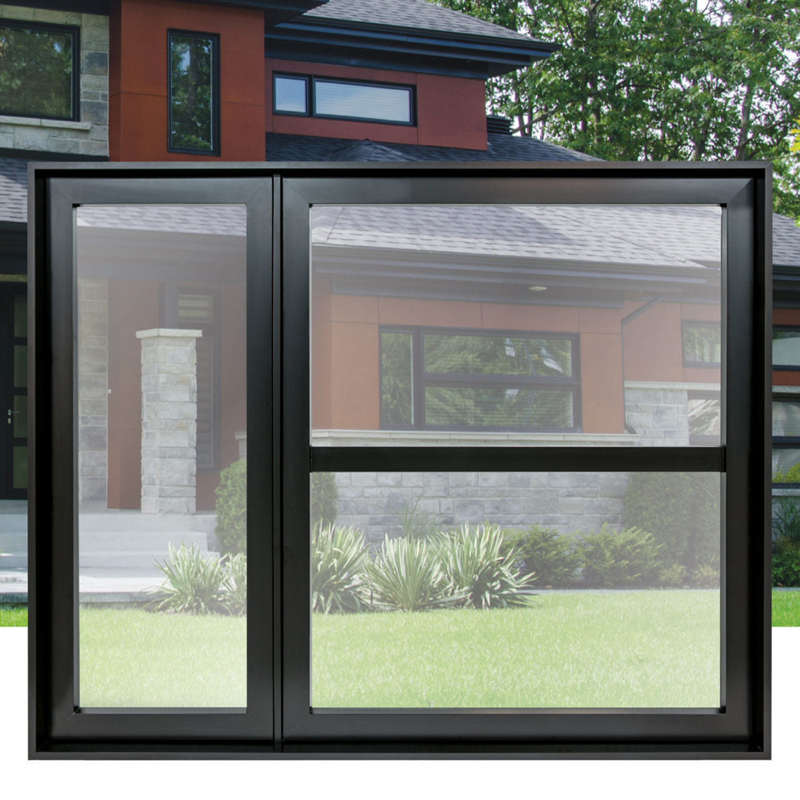 Pvc casement or awning window system 3000 series portatec for Pvc window frame