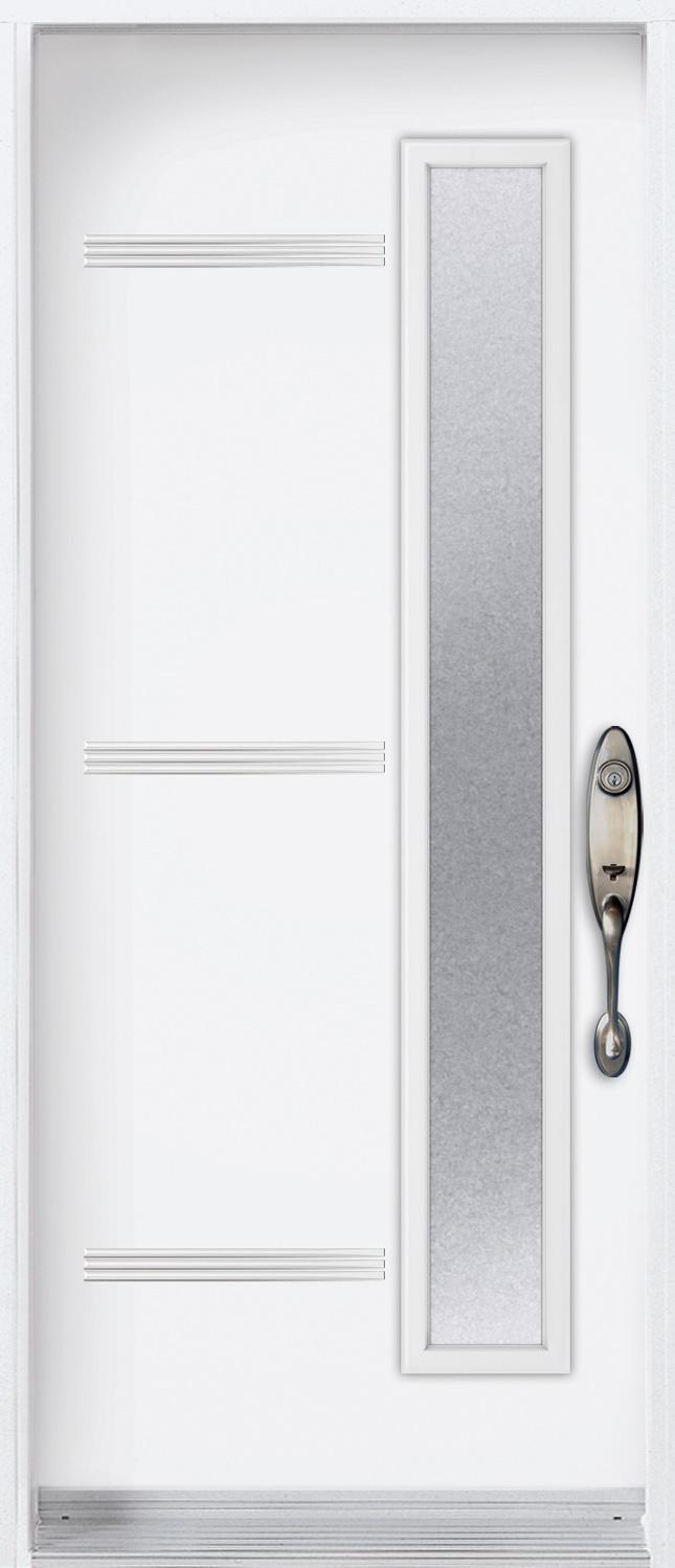 Mod le porte acier avec unit vitr e pa oso v portatec for Ou acheter porte interieur