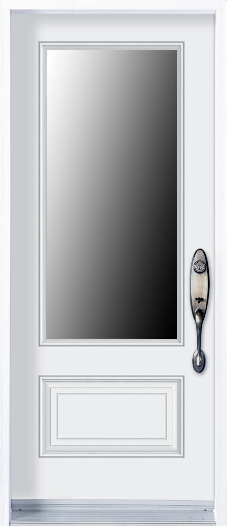 mod le porte acier avec unit vitr e pa76 1p portatec fabricant de portes sur mesure. Black Bedroom Furniture Sets. Home Design Ideas