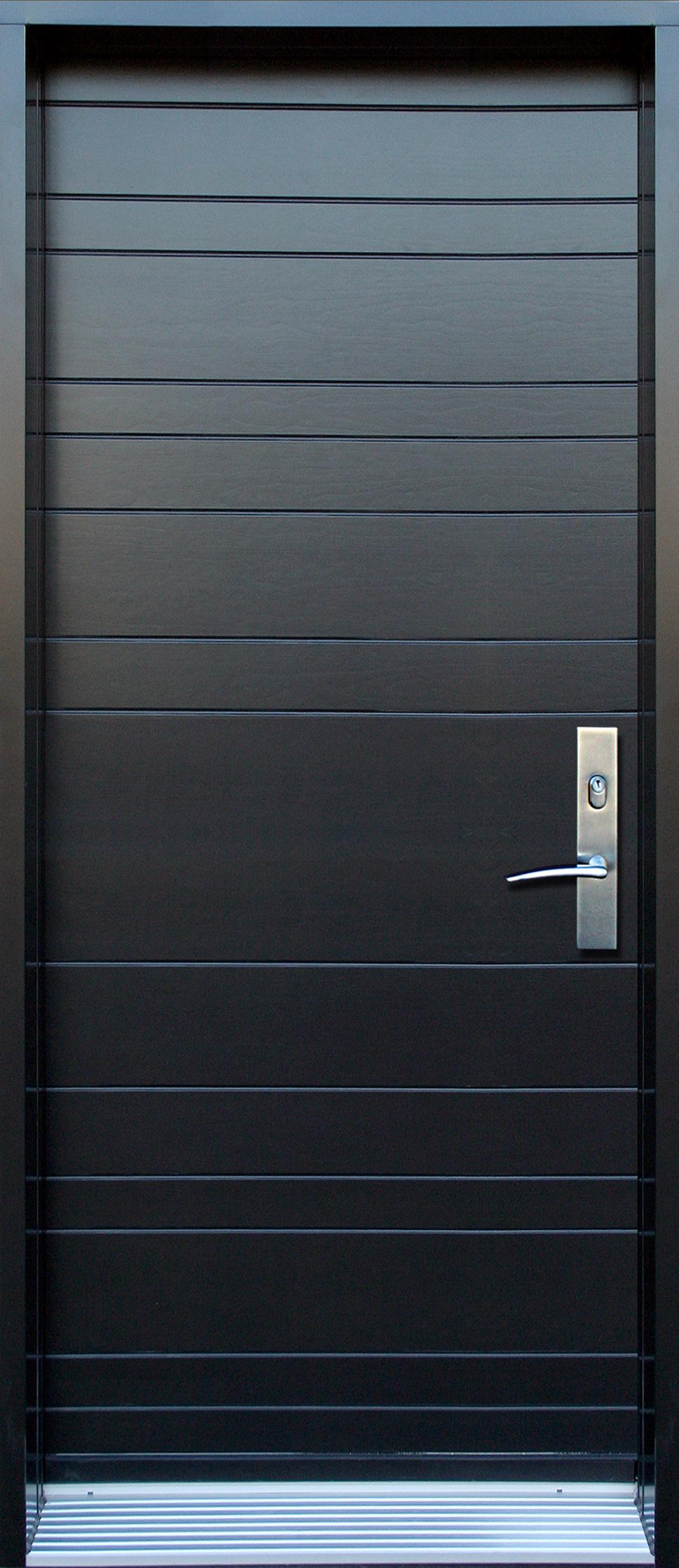 Mod le de porte contemporaine alpha7 portatec for Revetement porte d entree