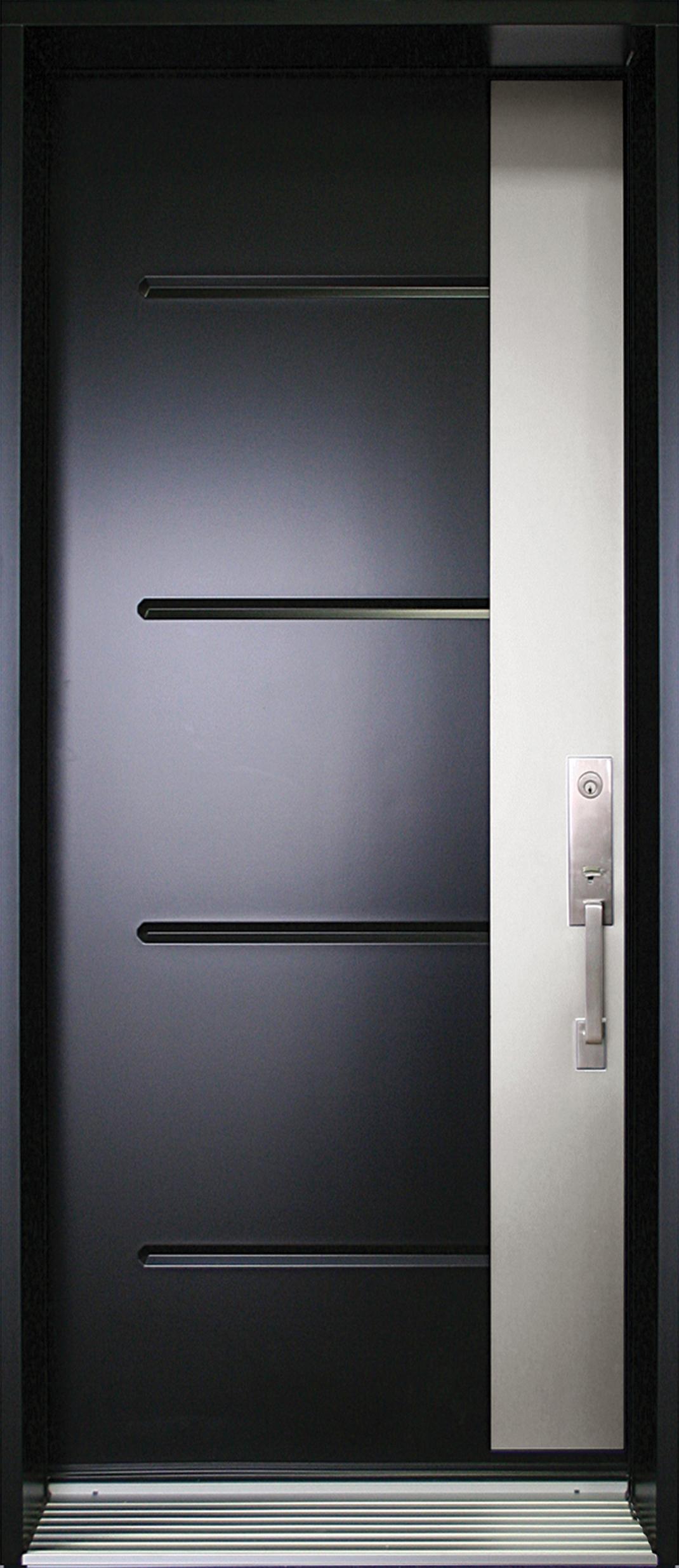 Mod le de porte contemporaine alpha8 portatec - Porte d entree acier ou alu ...