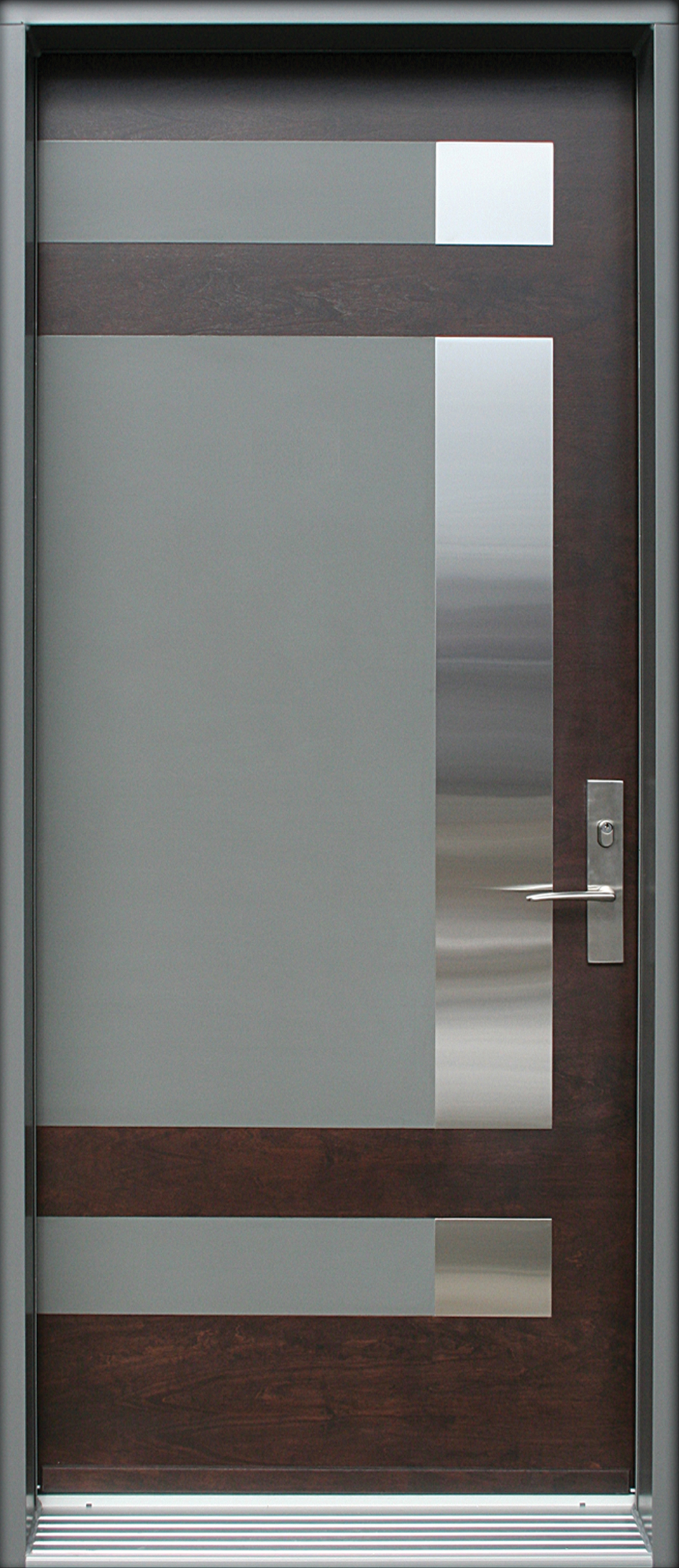 Mod le de porte contemporaine epsilon1 portatec - Revetement porte d entree ...