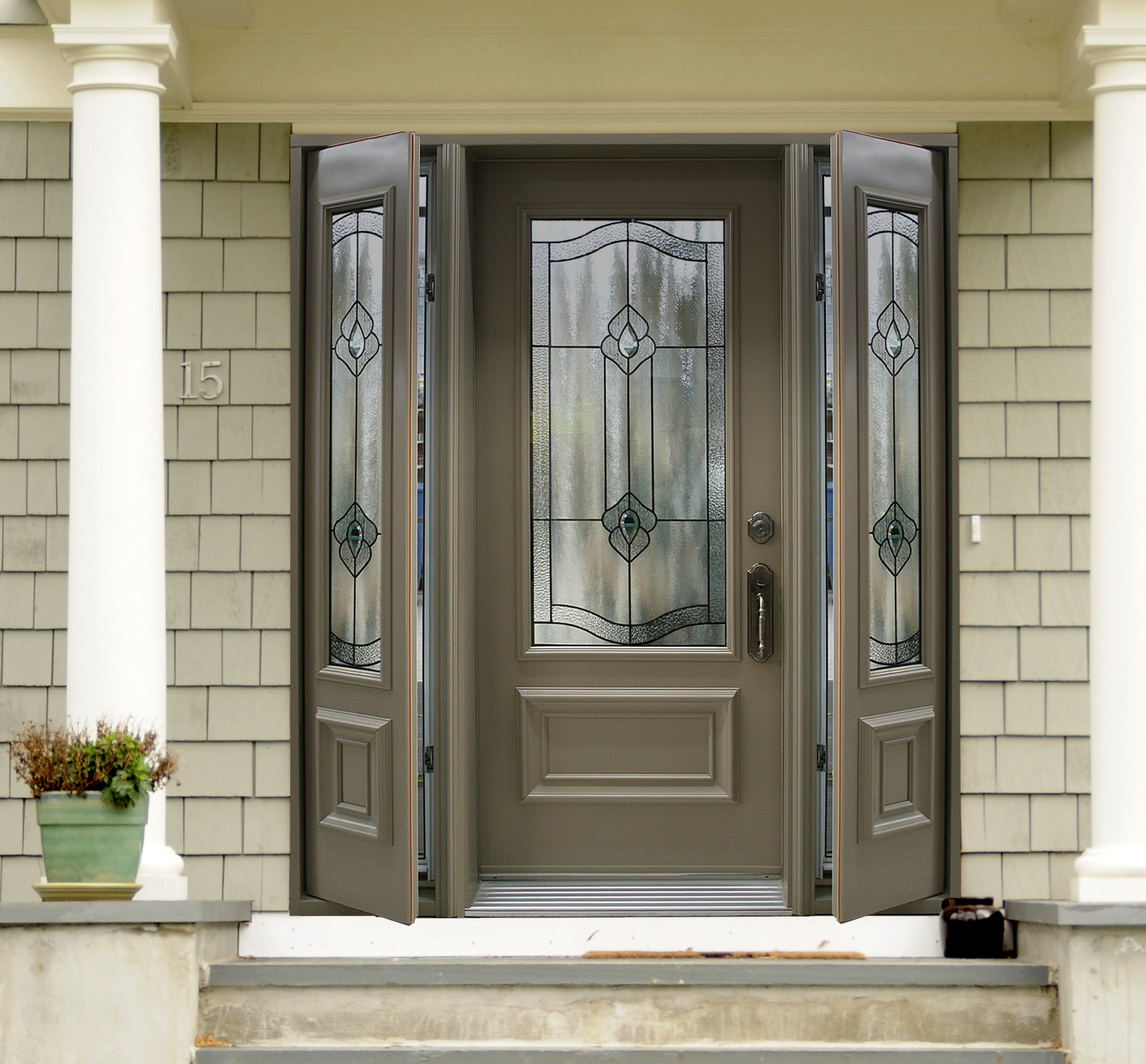 Door With 2 Full View Venting Sidelites ⋆ Portatec