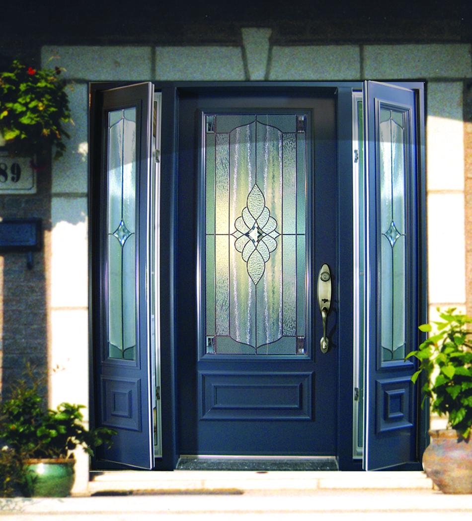 Porte avec 2 panneaux lat raux ouvrants pleine grandeur 2 for Grandeur de porte