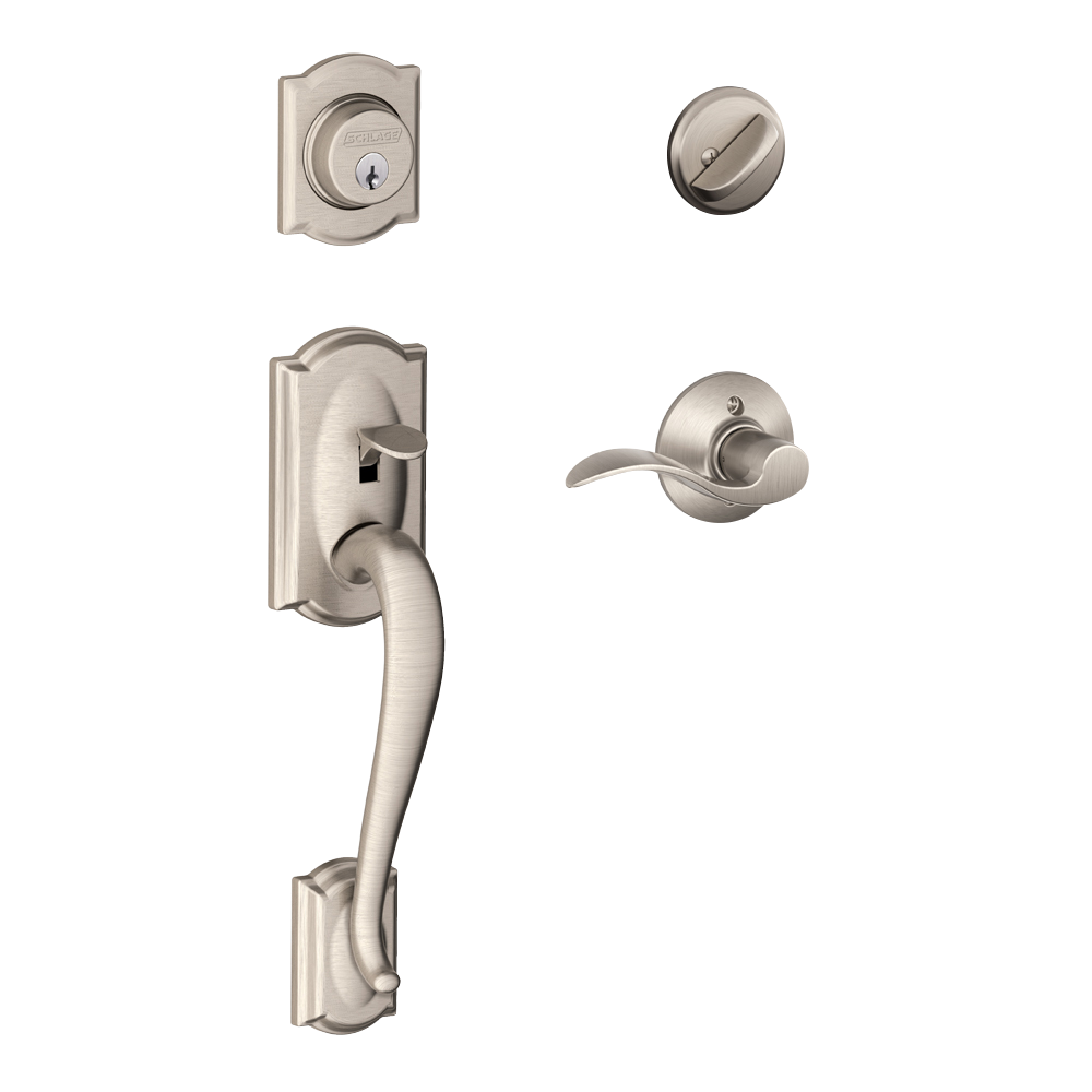 Poign e de porte schlage camelot portatec fabricant de portes sur mesure - Poignee de porte exterieure weiser ...