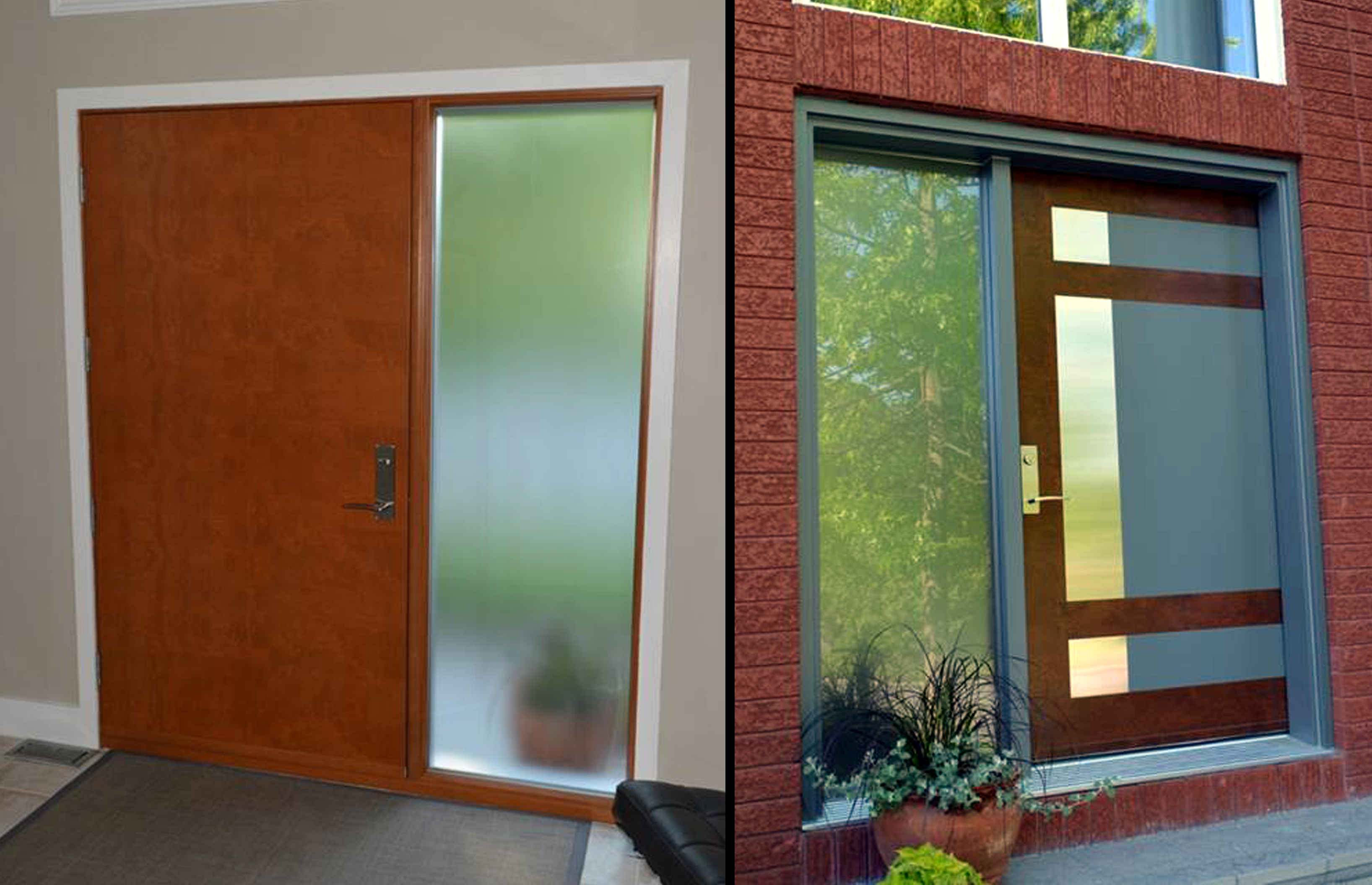 gallery designs wood with walnut custom idea door entrance doors exterior simpson modern