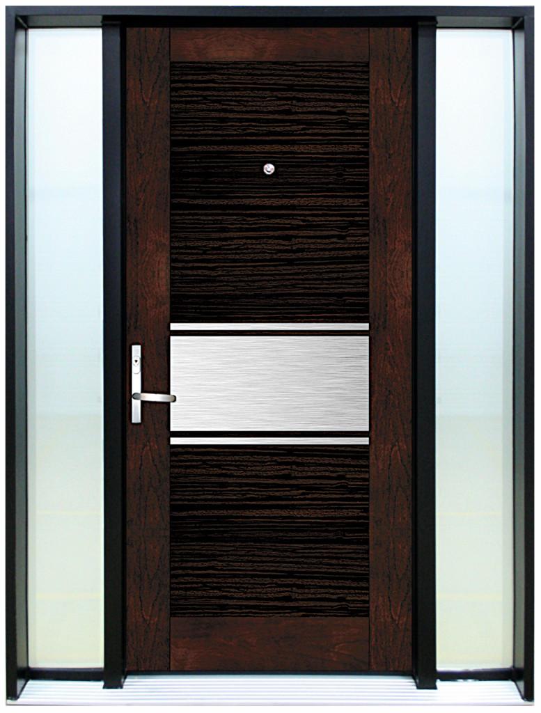 porte contemporaine sigma 1 porte avec 2 lat raux vitr s. Black Bedroom Furniture Sets. Home Design Ideas
