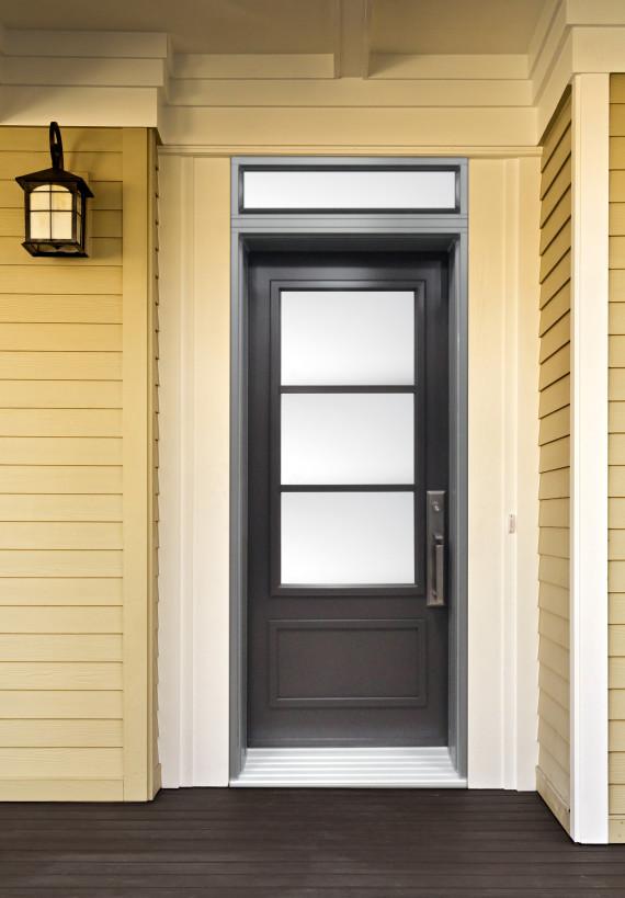 porte d 39 acier contemporaine imposte rectangle portatec fabricant de porte d 39 entr e sur mesure. Black Bedroom Furniture Sets. Home Design Ideas