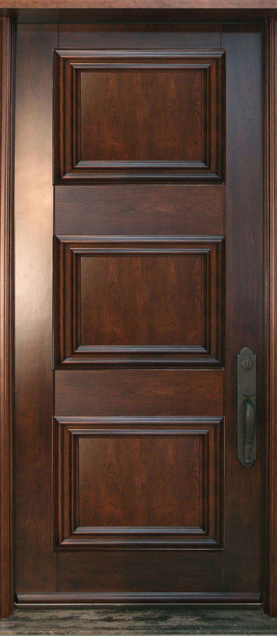 nb318 porte acier bois panneaux d coratifs cerisier. Black Bedroom Furniture Sets. Home Design Ideas