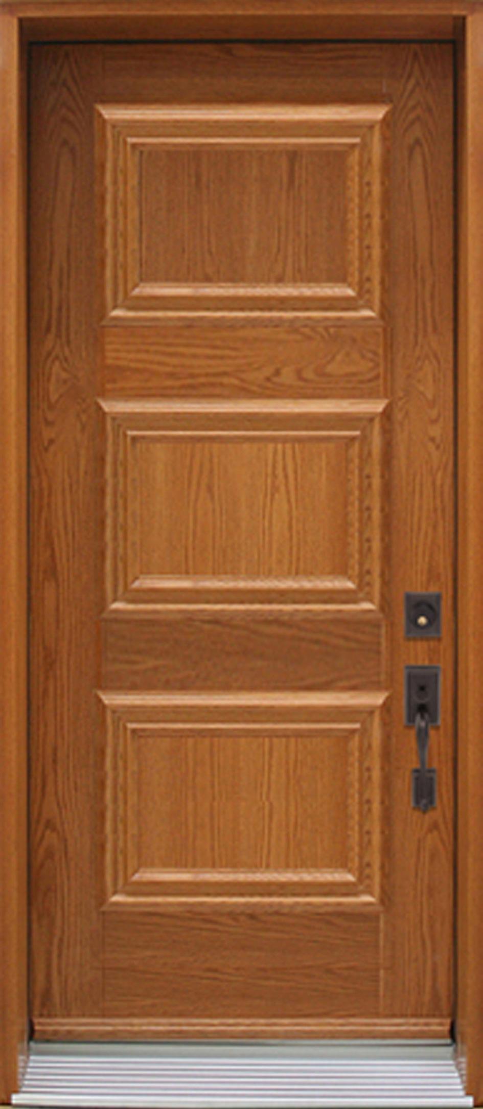Nb318 porte acier bois panneaux d coratifs ch ne portatec fabricant de portes sur mesure - Porte en bois ...