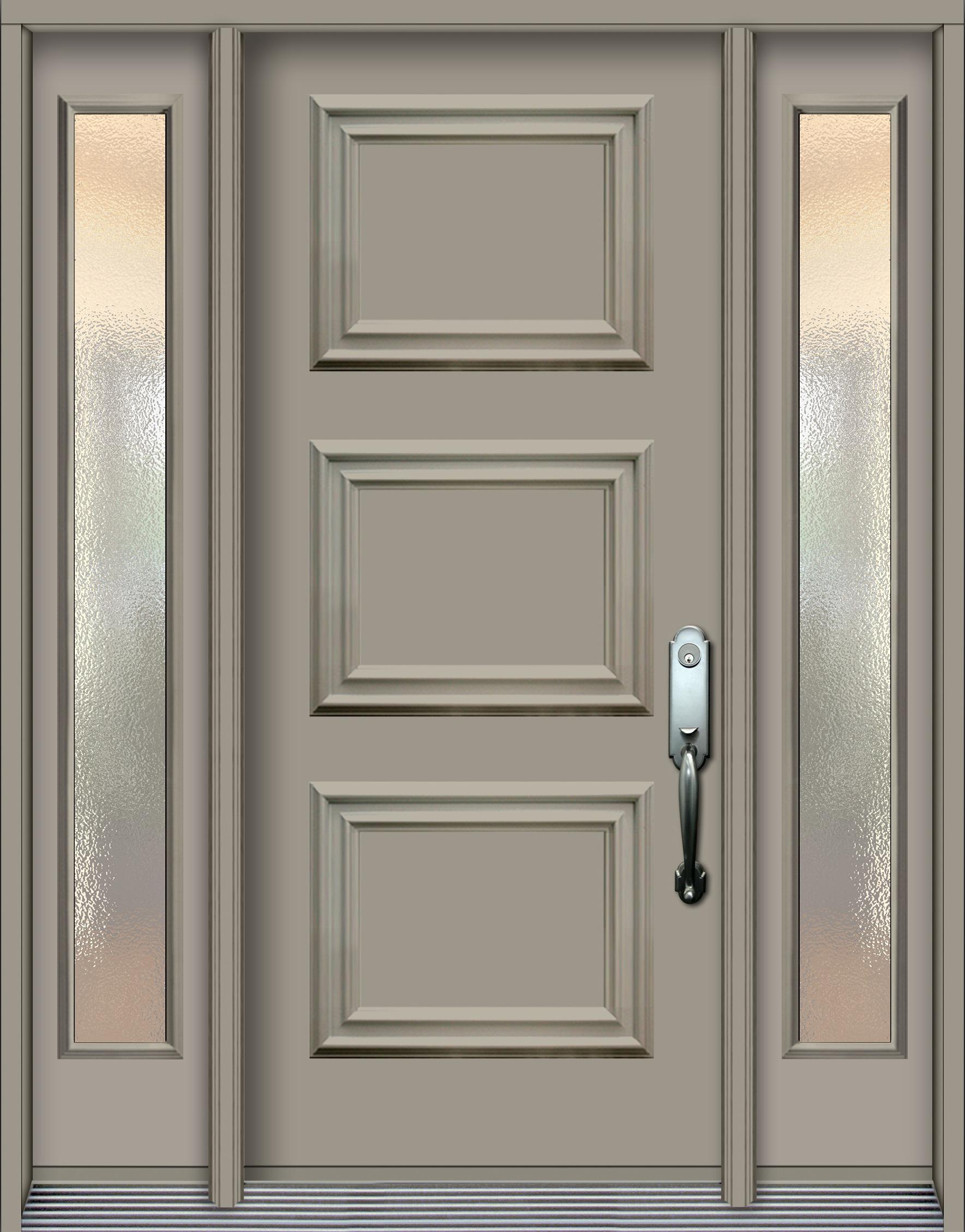 Nb318 porte en acier panneaux d coratifs 2 pal60 argile - Revetement porte d entree ...