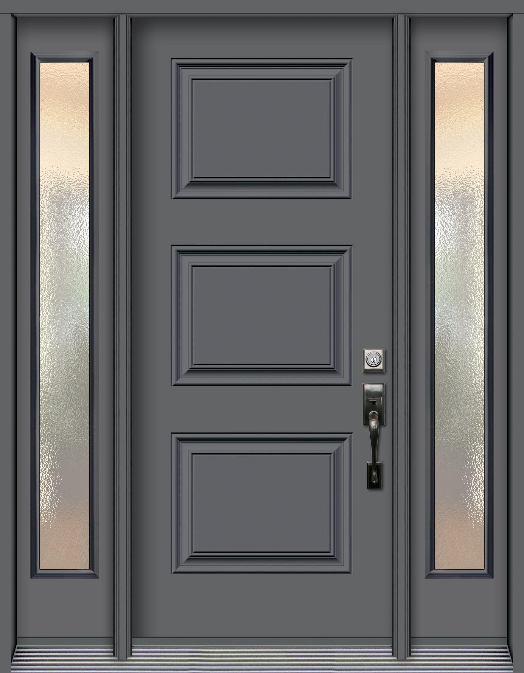Pa3p syd porte en acier emboss e 3 panneaux 2 pal60 for Fabricant porte et fenetre quebec