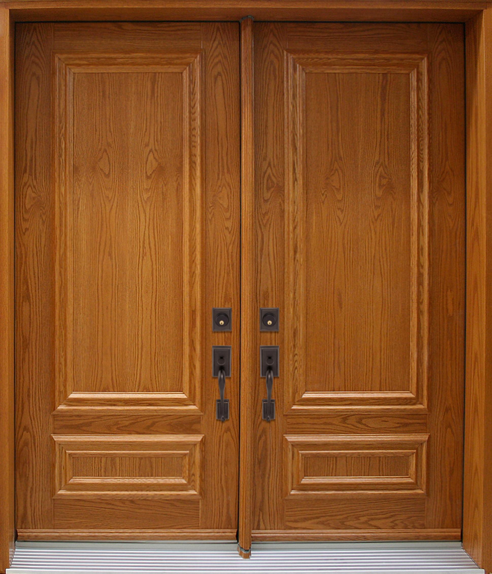 Nb5410 double door steel wood d corative panels oak for New double door
