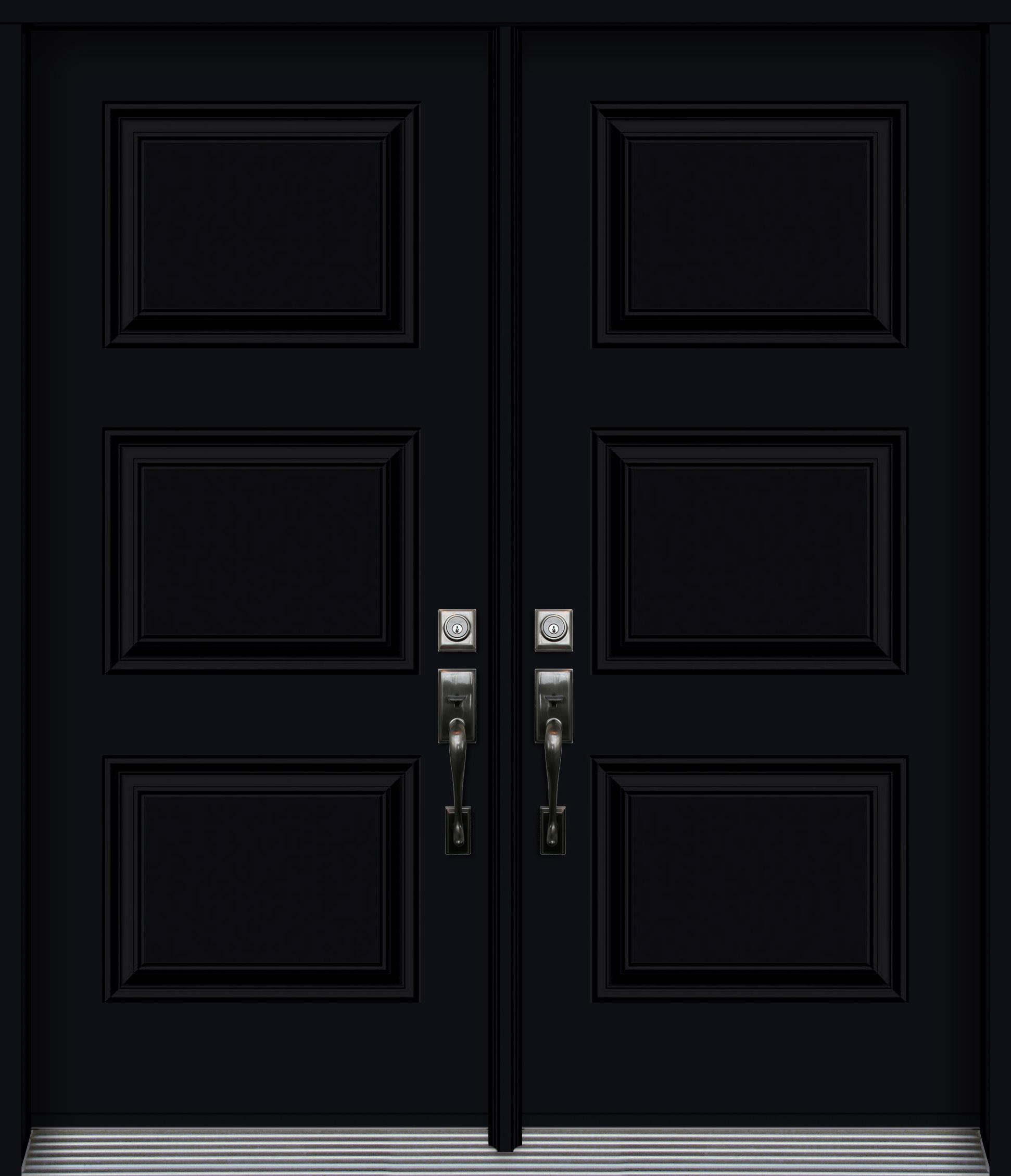 Pa3p Syd Double Embossed Steel Door 3 Panels Black