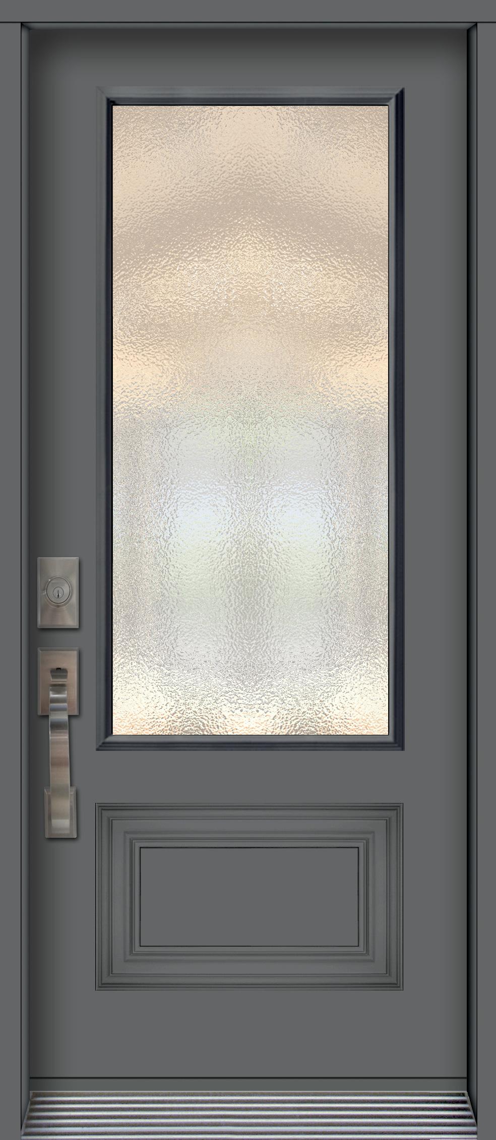 pa76nb porte en acier panneau d coratif unit vitr e charbon portatec fabricant de porte. Black Bedroom Furniture Sets. Home Design Ideas