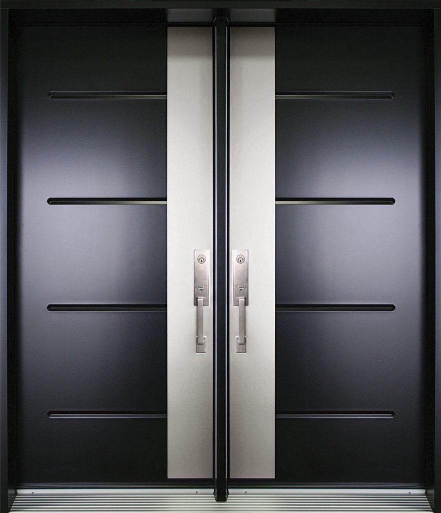 alpha 8 porte contemporaine double urbania noir. Black Bedroom Furniture Sets. Home Design Ideas
