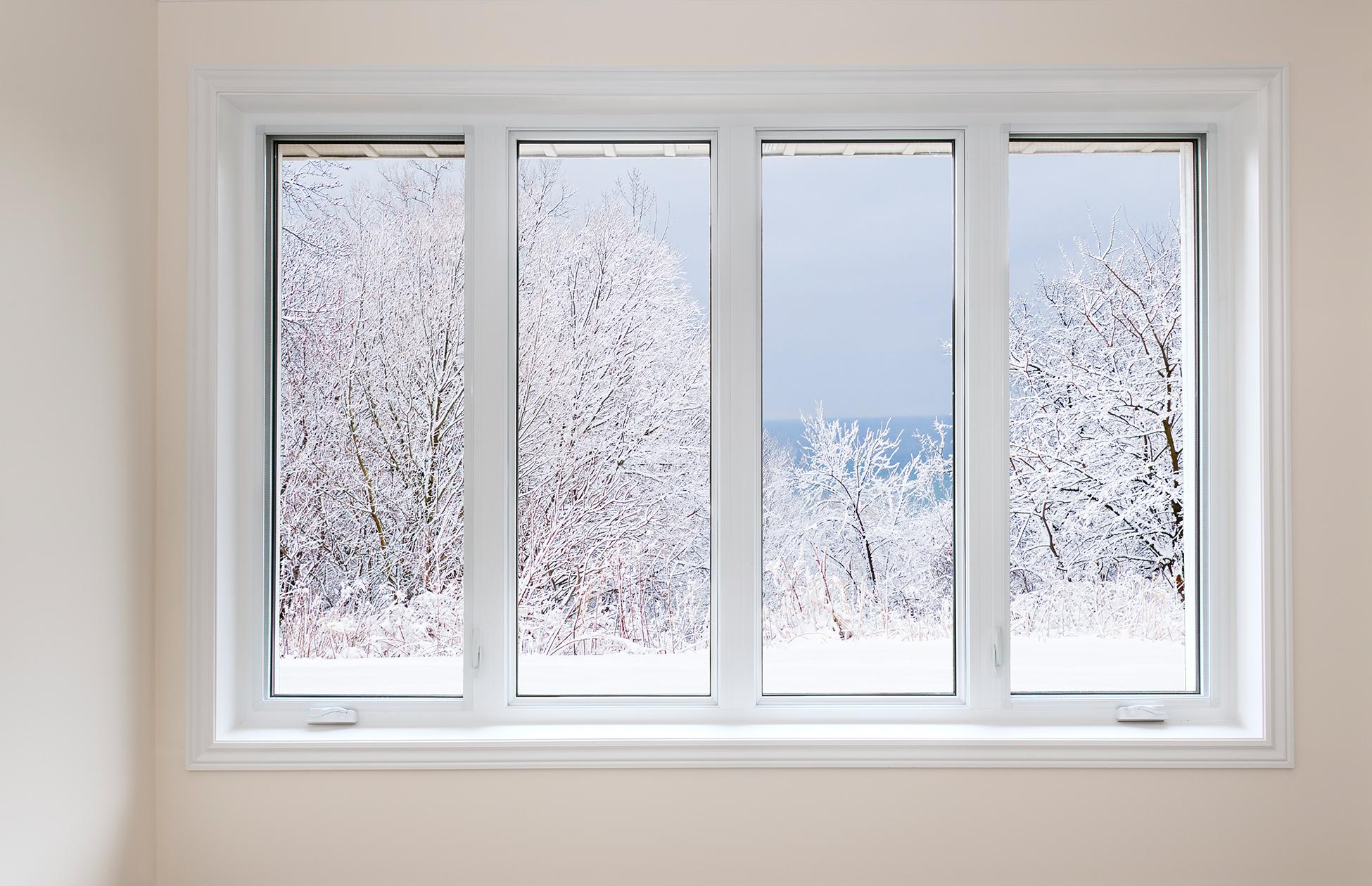 Installation de fenêtres en hiver