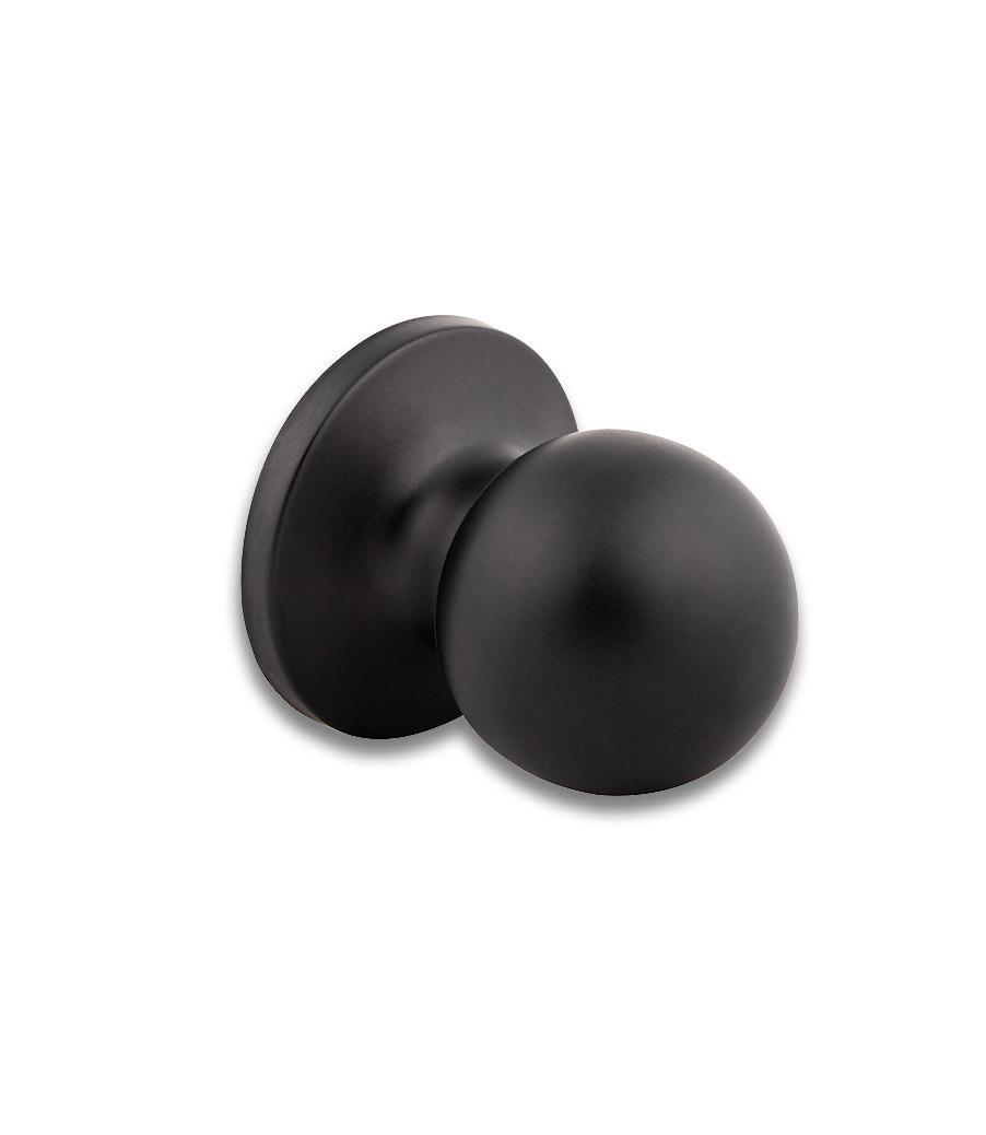 Round Rondo Knob - Black