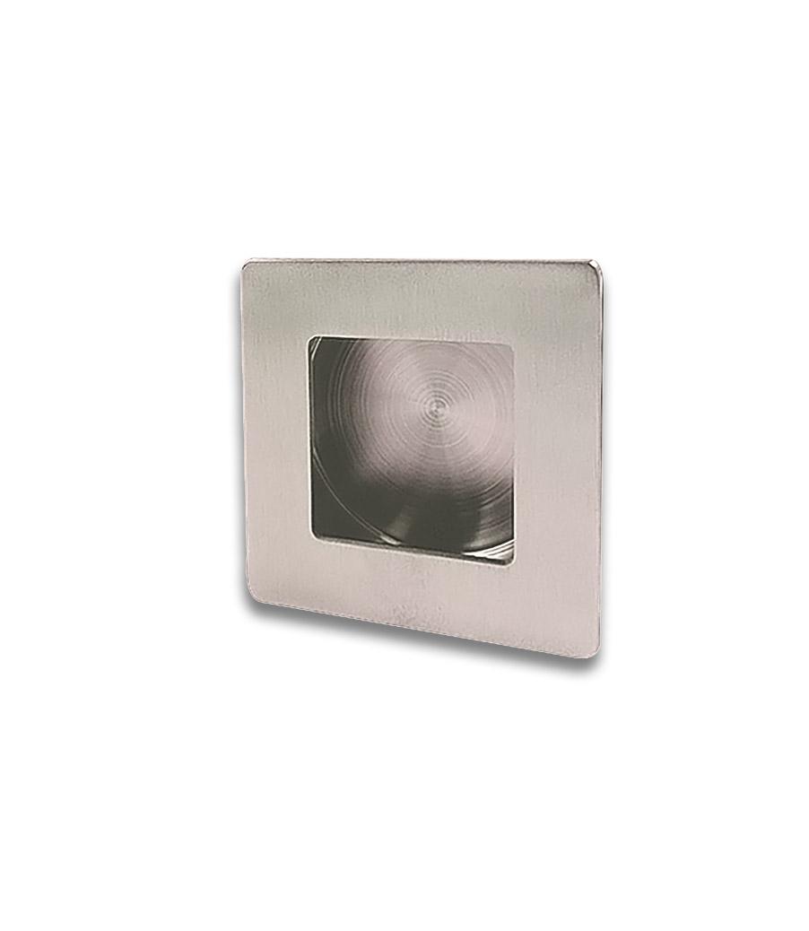 Poignée encastrée carrée - Nickel satiné