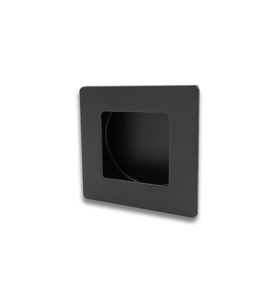 Poignée encastrée carrée - Noir